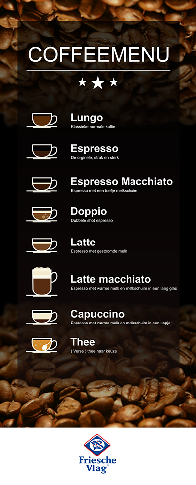 Koffie catering concept (all-in) menu